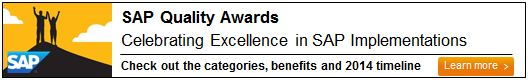 Sap quality awards hana